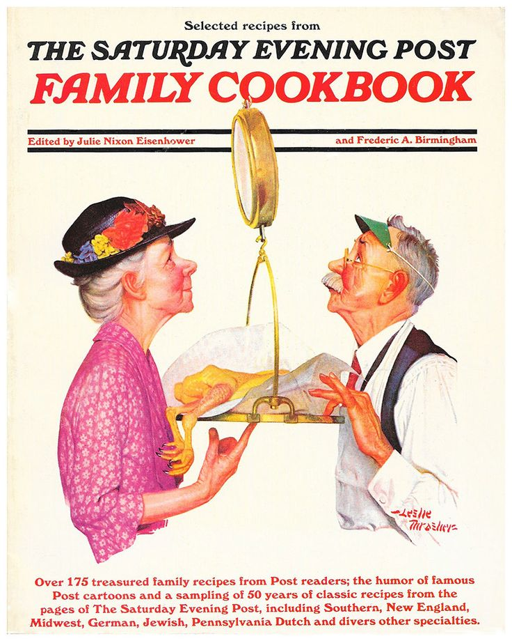 The Saturday Evening Post Family Cookbook   Edited by Julie Nixon Eisenhower    Out of Print   Collectible   1970s by ScottieBooks on Etsy