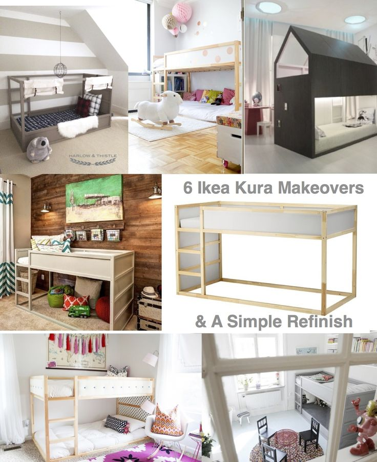 6 simple to insane Ikea Kura Makeovers