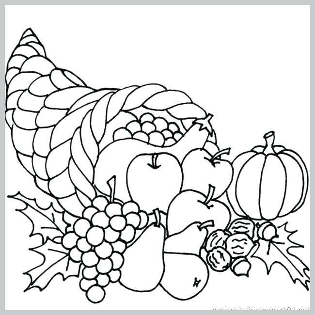 Cornucopia Coloring Page Cornucopiacoloringpage Thanksgiving Drawings Thanksgiving Coloring Pages Fall Coloring Pages