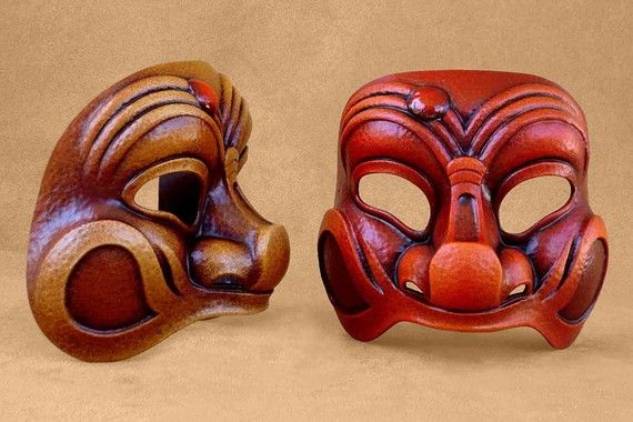 Commedia Dell Arte Harlequin Mask by Piratemask on Etsy