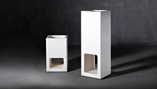 Lluna Plena Modern Outdoor Flower Pots by Serralunga - $740.00 LLUNA, impeccably stylish, was designed by Joan Gaspar for Serralunga. It's multi-functional design with its carefully balanced proportions serves as both vase and outdoor lamp. LLUNA total-white, is a furniture piece ideal for separating outdoor living areas with a touch of elegance by allowing just a little space between the two.
