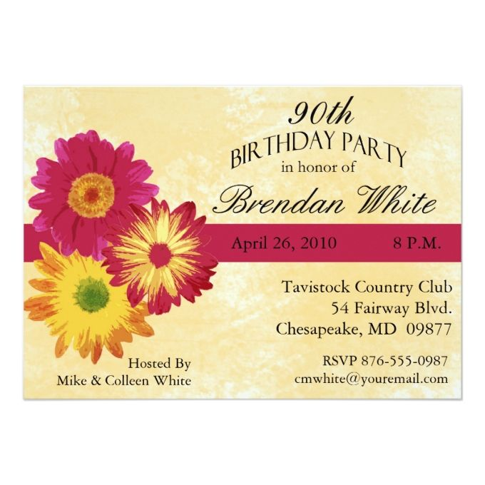 1292 best 90th Birthday Invitations images – 90th Birthday Invitation Cards