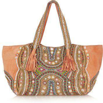 Antik Batik | Gaspard embellished suede tote | NET-A-PORTER.COM