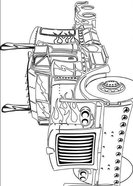 Rescue Bots Kleurplaat Transformers Coloring Books Pictures Of Truck Optimus