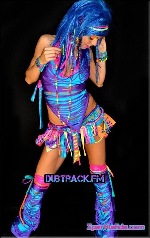 rave costume and costumes. #edm #rave #plur