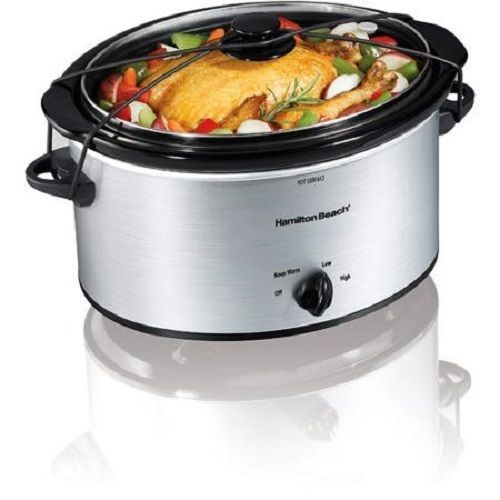 5 quart Slow Cooker Portable Crockpot Crock Pot Oval Oblong Hamilton Beach 5 qt #HamiltonBeach