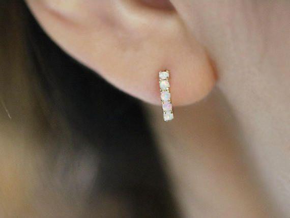 Pendiente / 14K oro sólido piercing cartílago pendiente/Helix