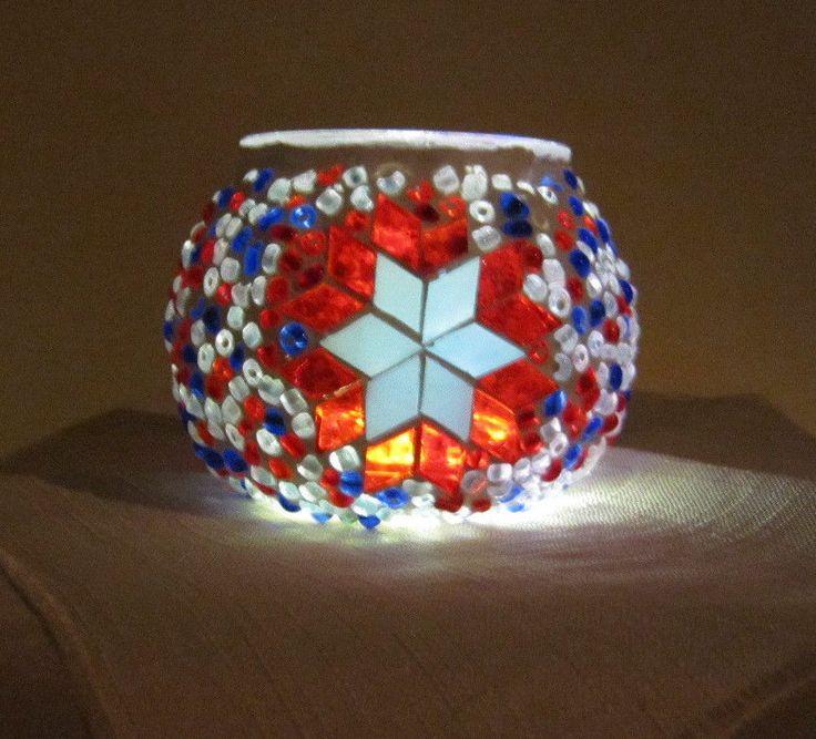 Turkish Moroccan Handmade Mosaic Candleholder Tealight 001 Small