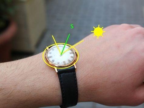 Wozu einen Kompass kaufen? Benutze einfach deine Armbanduhr