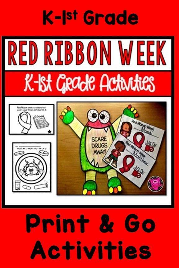 Pin On Montessori Toddler Red ribbon week worksheets kindergarten