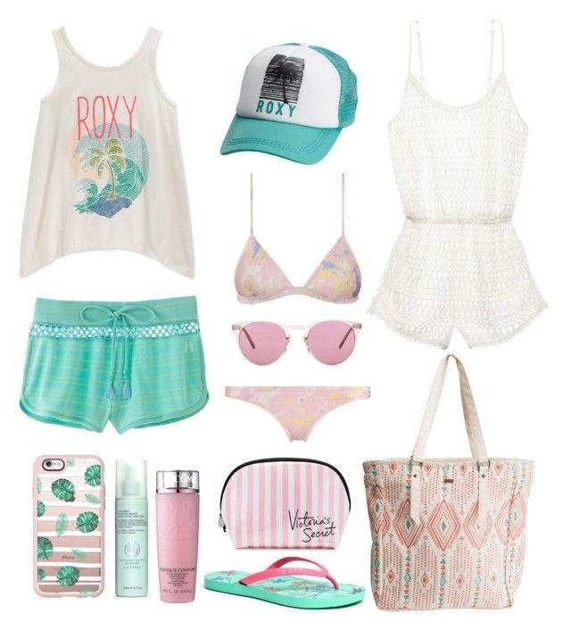 """Summer Camp"" by julimoli27 on Polyvore featuring moda, Roxy, Bibi, Victoria's Secret, Casetify, Tidal, Liz Earle, Lancôme y Oliver Peoples"