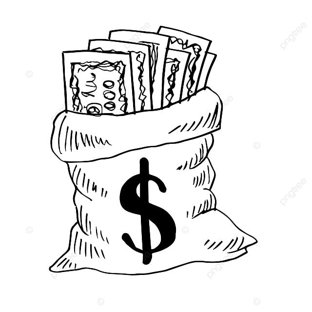 Money Bag With Dollar Sign Sketchy Style Money Bag Clipart Achievement America Png And Vector With Transparent Background For Free Download In 2021 Money Clipart Money Bag Dollar Sign