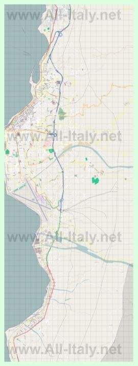Подробная карта города Реджо-ди-Калабрия
