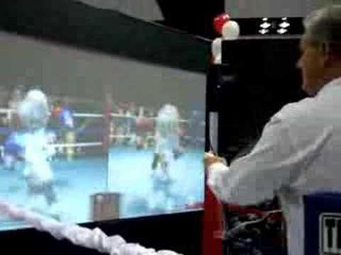 HONBLUE Wii boxing exhibit at the 2007 Pacific Building Trade Expo--  Larry vs. The Princess