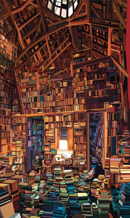 Pierpaolo Rovero creates wonderful book paintings / here's one of them -