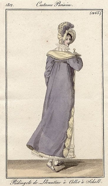 Back of pelisse, 1812 Costume parisien