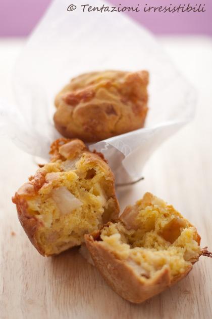 muffin salati pere e taleggio #recipe #juliesoissons