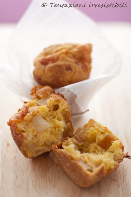 muffin salati pere e taleggio #recipe #juliesoissons