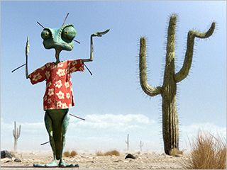 Rango.   Johnny Depps voice is doing so much, but we already know that everything about mr.Depp is perfect!