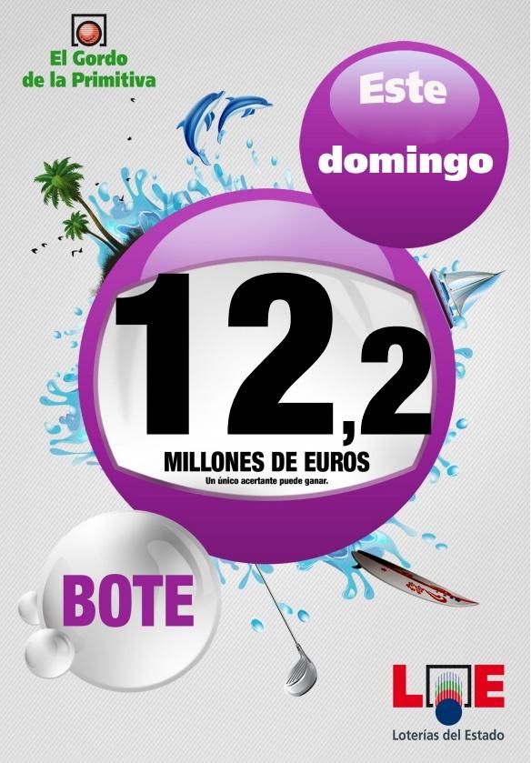 Gordo Primitiva, Bote 12.200.000€, Domingo 24/06/2012
