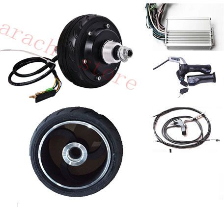 "5"" 250W  48V electric scooter parts ,electric hub motor for wheelchair , brushless non-gear hub  motor"