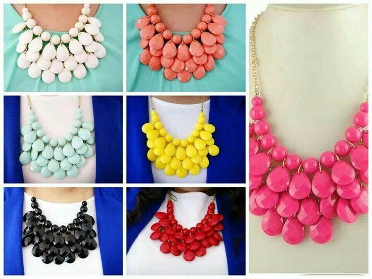 Collar de gotas $150 varios colores. necklaces