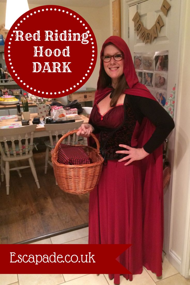 Mrs Bishop's Bakes and Banter: Red Riding Hood DARK halloween costume from Escapade Fancy dress online priced £39.99.
