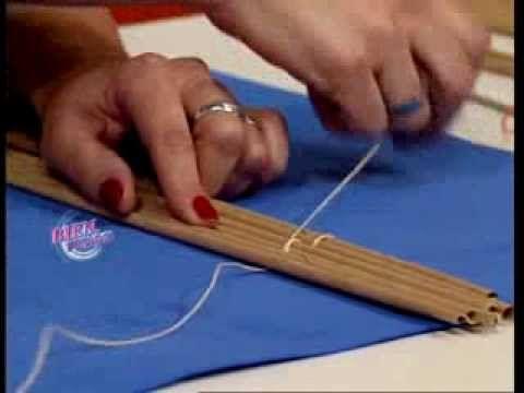 Silvina Buquete - Bienvenidas TV - Realiza unas cortinas de enrollar en cestería. - YouTube