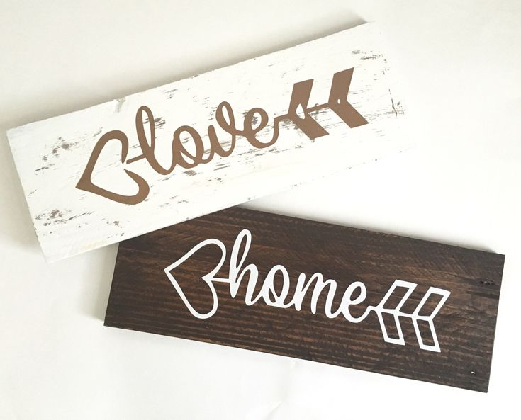 Pallet Wood Signs, Reclaimed Wood Signs https://www.etsy.com/listing/478787959/home-pallet-wood-sign-arrow-wood-sign