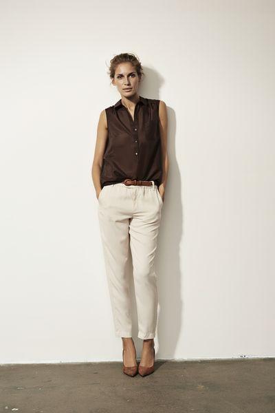 Part Two, Daeva puuvilla/silkki pusero 79,95€, Dorothea lyocell housut 99,95€. Companys, 2.krs.