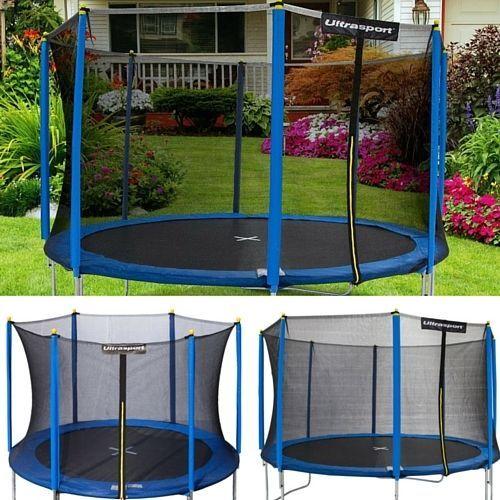 Trampoline Safety Net Cover Ladder Rain Enclosure Kids Outdoor 6ft-8ft-10ft-12ft