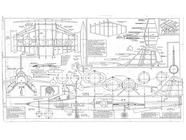 Lockheed F 104g Plan Thumbnail Balsa Wood Model