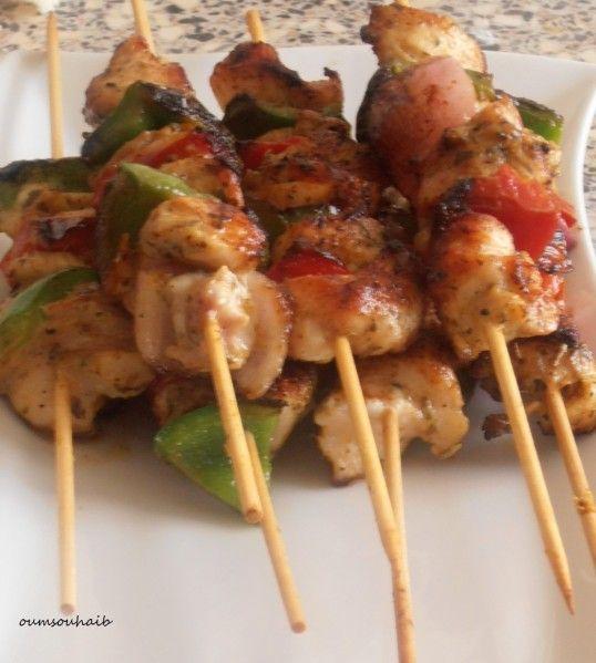 brochette poulet tandoori poivron
