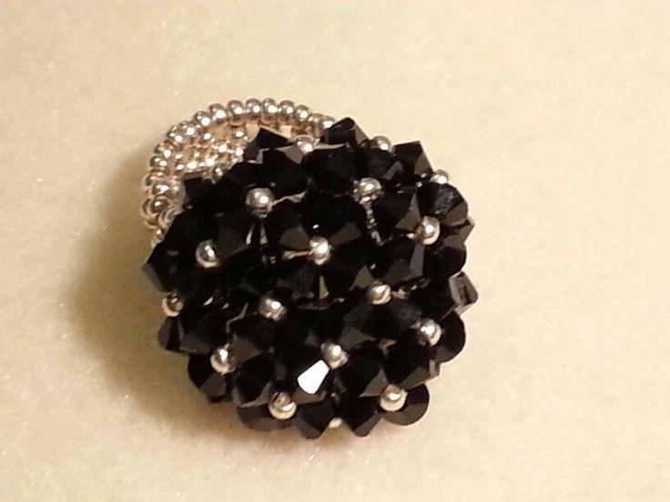 Fekete swari gyűrű