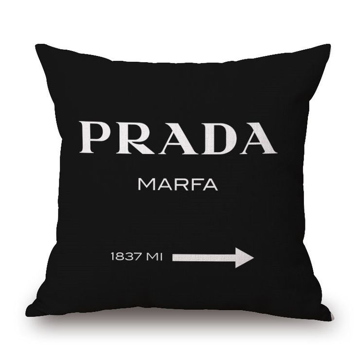 New Decorative Throw Pillow Black Brown Letter logo for Women's handbag Cotton Linen big H Cushion without insert funda cojines