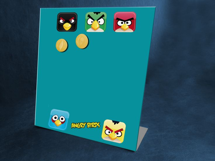 Portarretratos magnético modelo Angry Birds  www.facebook.com/malabaresdesign