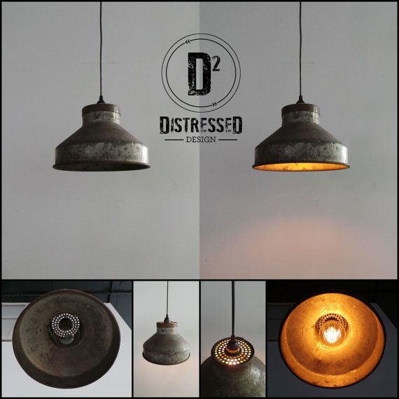 Milk Can Funnel Pendant Light by DesignDistressed on Etsy, $175.00