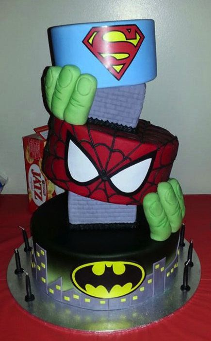 Towering Superhero Cake Cake Inspiration Cake