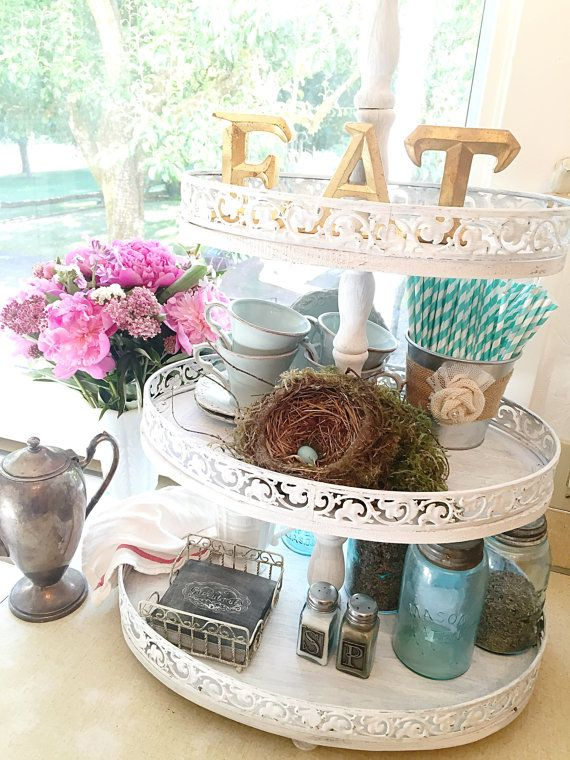 Hey, I found this really awesome Etsy listing at https://www.etsy.com/listing/238489444/3-tiered-serving-tray-white-painted