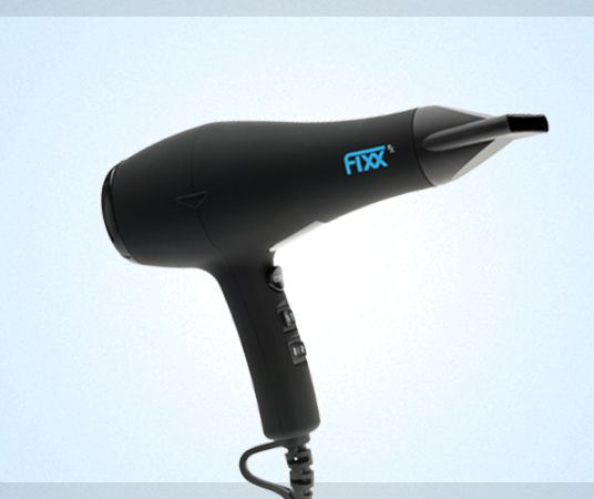 FixxRx Hair Dryer — FixxRx An 1850 WATT heavy duty DC Motor, A low electromagnetic field that prevents hair damage, Far-infrared technology to produce a more gentle heat flow, 3m power cord, concentrator and diffuser included.