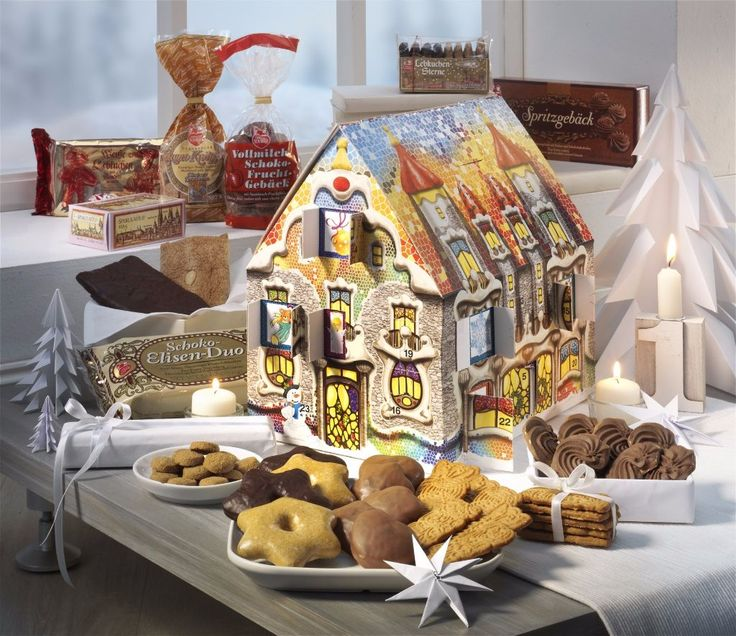 Advent Calendar packed with treats. A little window to open every day till Christmas and a code to input into a website on the 25th to download German Christmas music. By Lebkuchen Schmidt