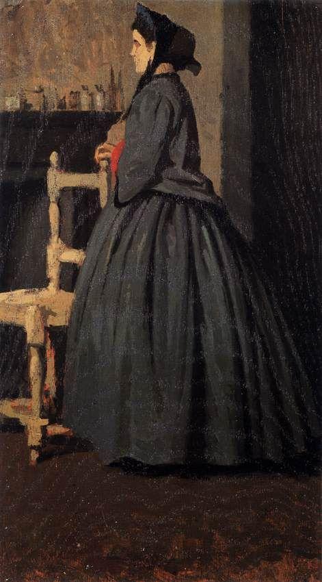 The Athenaeum - Portrait of a Woman (Giuseppe Abbati - )
