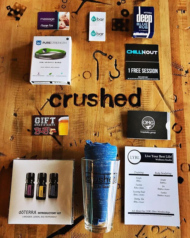 HANDS UP 🙌 For supporting our World Relief Fundraiser on Wednesday 6/28 starting at 8pm ‼️ ➖➖➖➖➖➖➖➖ Raffle Prizes include: $25 gift certificates to local bars & restaurants (Bubs, PB Alehouse, Backyard) @chillnoutcryo passes, B12 Shot from @ivbarsd , Essential Oil Starter Kit, Crushed Swag & MORE! It's going to be FUN!! And all proceeds go towards a great cause! 🤗 ➖➖➖➖➖➖➖➖ NOTE: There will be no music on 6/28 because we're going to need the floor to announce raffle prize winners 🎉…