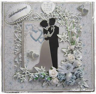 Så blev det til endnu et kort med det smukke brudepar fra Joanna Sheen, denne gang til et Sølvbryllupspar. Há en god dag