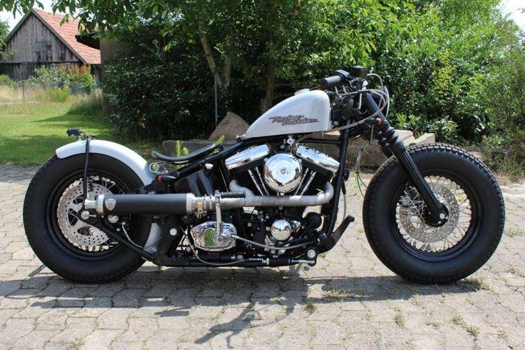 Harley Davidson Softail EVO Bobber / Old School Look / Penzl Auspuff | eBay #harleydavidsonsoftail #harleydavidsonchopper