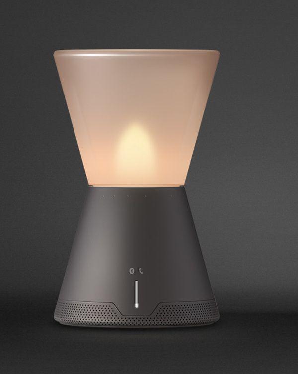 可以吹灭的智能音箱氛围灯