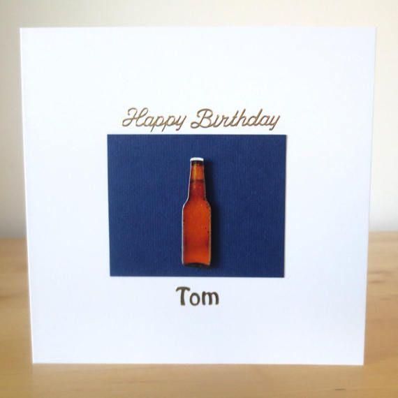 Birthday card for men Beer birthday card  by FyneHandmadeCards