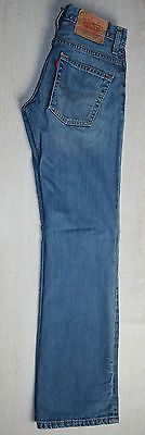 VINTAGE LEVIS 507 RED TAB JEANS BOOTCUT STRAIGHT ZIP MID FADED BLUE MOM W27 L31