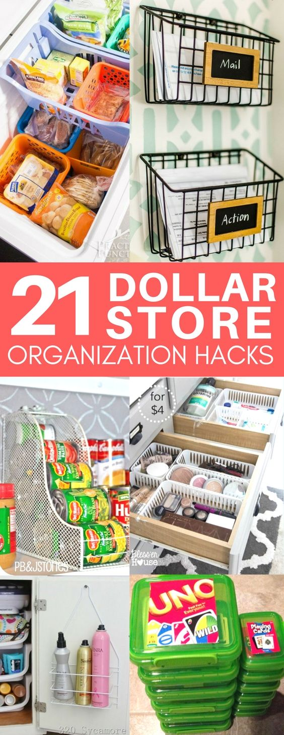 These Dollar Store Organization Ideas Are Exactly What I