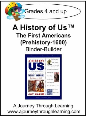 A History of Us Book 1- The First Americans Binder-Builder Lapbook